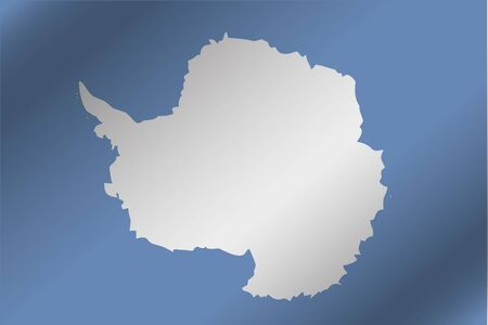 antartica: A 3D Wavy Flag Illustration of the country of  Antartica