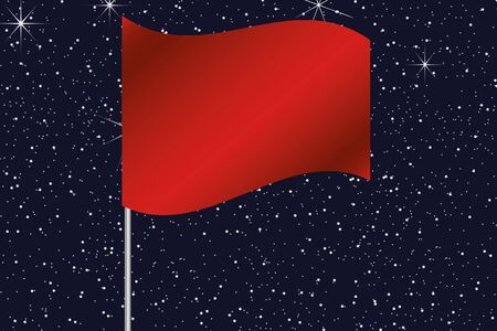 hong kong night: 3D Flag Illustration waving in the night sky of the country of  Hong Kong