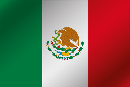 flag of mexico: A 3D Wavy Flag Illustration of the country of  Mexico Stock Photo