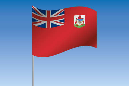 bermuda: A 3D Flag Illustration waving in the sky of the country of  Bermuda Stock Photo