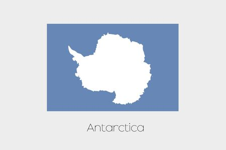 antartica: An Illustration of the flag, with name, of the country of Antartica