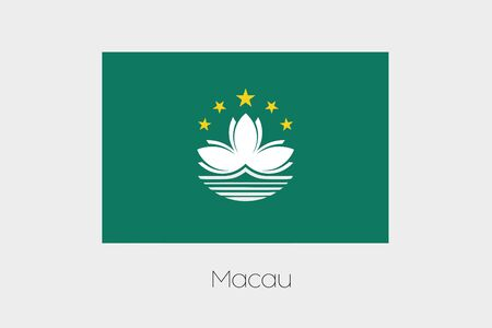 macau: An Illustration of the flag, with name, of the country of Macau Stock Photo