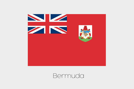 bermuda: An Illustration of the flag, with name, of the country of Bermuda