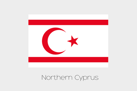 An Illustration of the flag, with name, of the country of Northern Cyprus