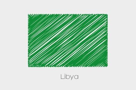jot: A Scribbled Flag Illustration of the country of Libya-75 Stock Photo