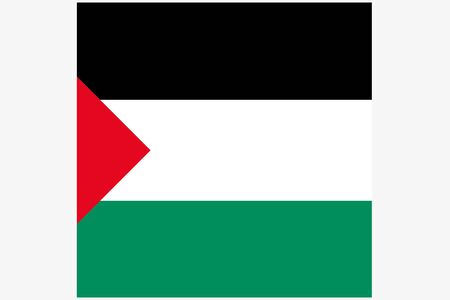 flag icon: A Square Flag Illustration of the country of  Palestine