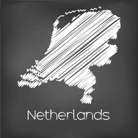 jot: A Scribbled Map of the country of Netherlands