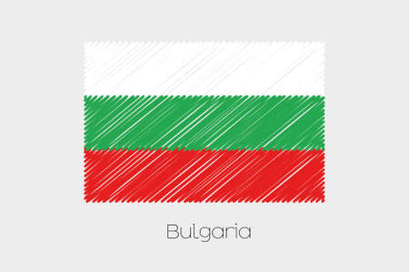 scrawl: A Scribbled Flag Illustration of the country of Bulgaria Stock Photo