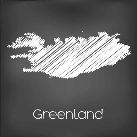 greenland: A Scribbled Map of the country of  Greenland