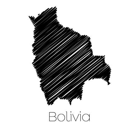 scribbled: A Scribbled Map of the country of  Bolivia