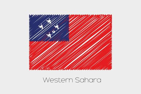 jot: A Scribbled Flag Illustration of the country of Western Samoa