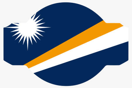 marshall: A Flag Illustration within a Sign of the country of  Marshall Islands Stock Photo