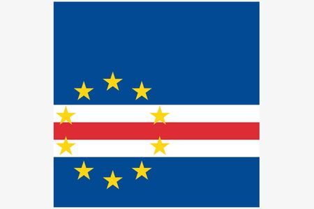cape verde flag: A 3D Isometric Flag Illustration of the country of  Cape Verde