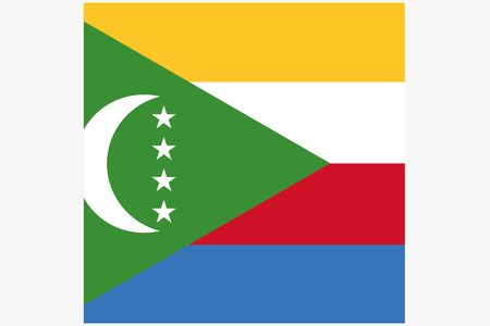 comoros: A 3D Isometric Flag Illustration of the country of  Comoros