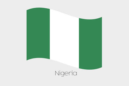 country nigeria: A 3D Waving Flag Illustration of the country of  Nigeria