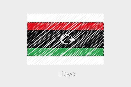 scrawl: A Scribbled Flag Illustration of the country of Libya-39 Stock Photo