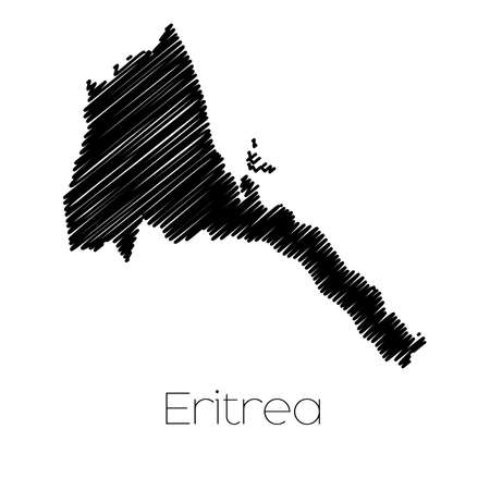 scribbled: A Scribbled Map of the country of  Eritrea