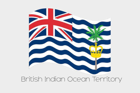 indian ocean: A 3D Isometric Flag Illustration of the country of  British Indian Ocean Territory Stock Photo