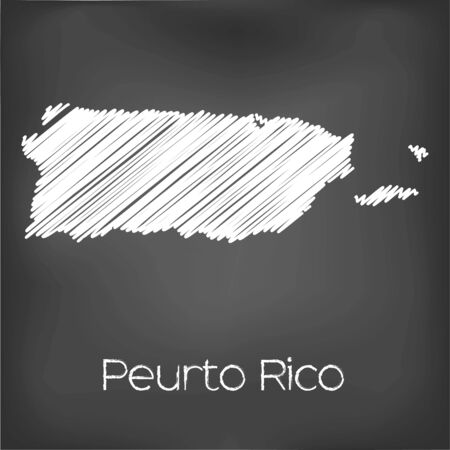 jot: A Scribbled Map of the country of Puerto Rico