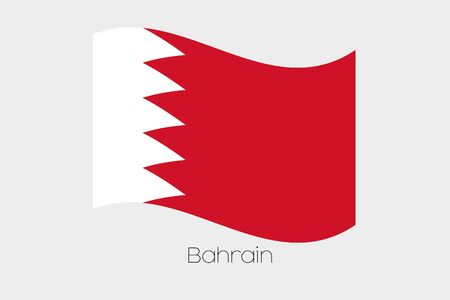 bahrain: A 3D Isometric Flag Illustration of the country of  Bahrain