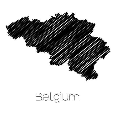 jot: A Scribbled Map of the country of  Belgium