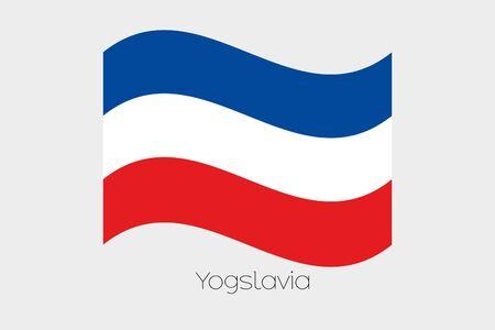 yugoslavia: A 3D Waving Flag Illustration of the country of  Yugoslavia
