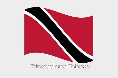 trinidad and tobago: A 3D Waving Flag Illustration of the country of  Trinidad and Tobago