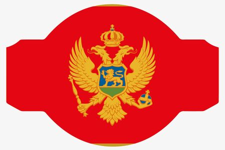 A Flag Illustration within a Sign of the country of  Montenegro Stock Photo