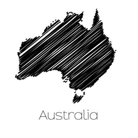 scrawl: A Scribbled Map of the country of  Australia