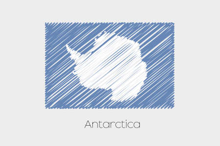 antartica: A Scribbled Flag Illustration of the country of Antartica Stock Photo