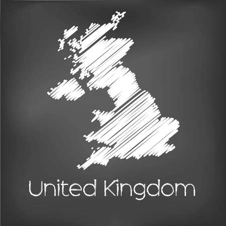 jot: A Scribbled Map of the country of United Kingdom