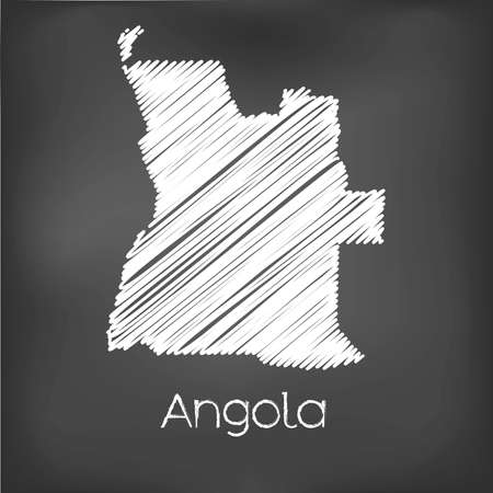 map of angola: A Scribbled Map of the country of  Angola