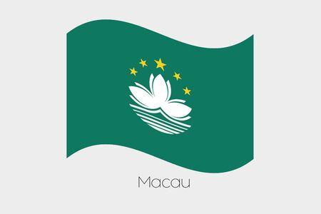 macau: A 3D Waving Flag Illustration of the country of  Macau Stock Photo