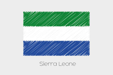 garabatos: A Scribbled Flag Illustration of the country of SierraLeone