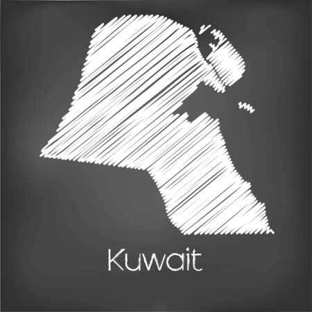 jot: A Scribbled Map of the country of Kuwait