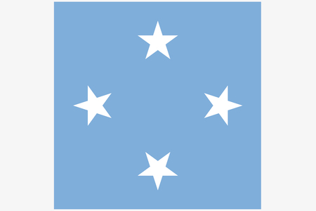 micronesia: A Square Flag Illustration of the country of  Micronesia