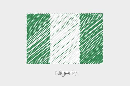 country nigeria: A Scribbled Flag Illustration of the country of Nigeria Stock Photo
