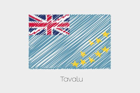garabatos: A Scribbled Flag Illustration of the country of Tavalu
