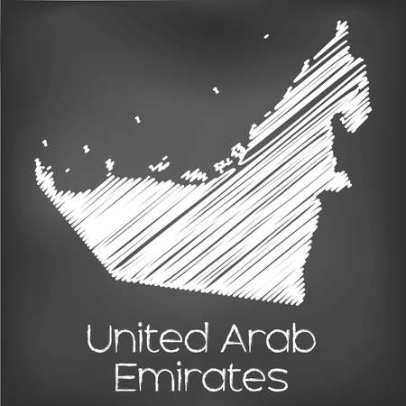 scrawl: A Scribbled Map of the country of United Arab Emirates