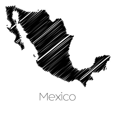 jot: A Scribbled Map of the country of  Mexico