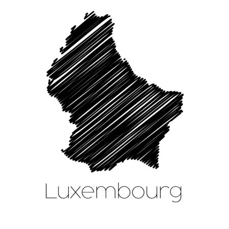jot: A Scribbled Map of the country of  Luxembourg
