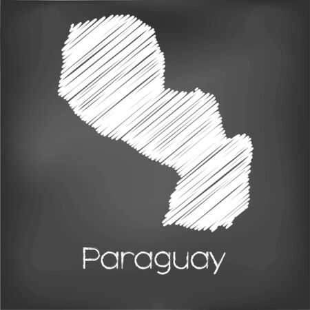jot: A Scribbled Map of the country of Paraguay