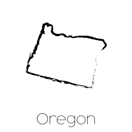 A Scribbled shape of the State of Oregon 版權商用圖片