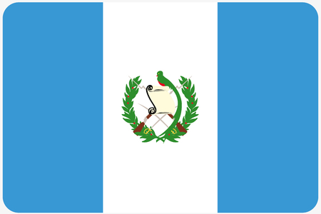 world flags: A Flag Illustration with rounded corners of the country of Guatemala