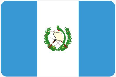 bandiera: Una illustrazione Bandiera con gli angoli arrotondati del paese del Guatemala Archivio Fotografico