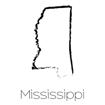 scribbled: A Scribbled shape of the State of Mississippi