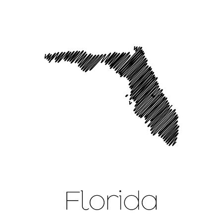 A Scribbled shape of the State of Florida