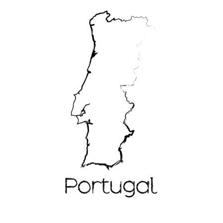 scribbled: A Scribbled Shape of the Country of Portugal