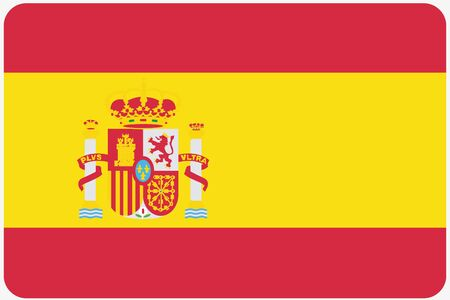 world flags: A Flag Illustration with rounded corners of the country of Spain Stock Photo