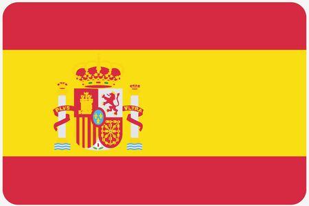 banderas del mundo: Una ilustración de la bandera con las esquinas redondeadas del país de España Foto de archivo